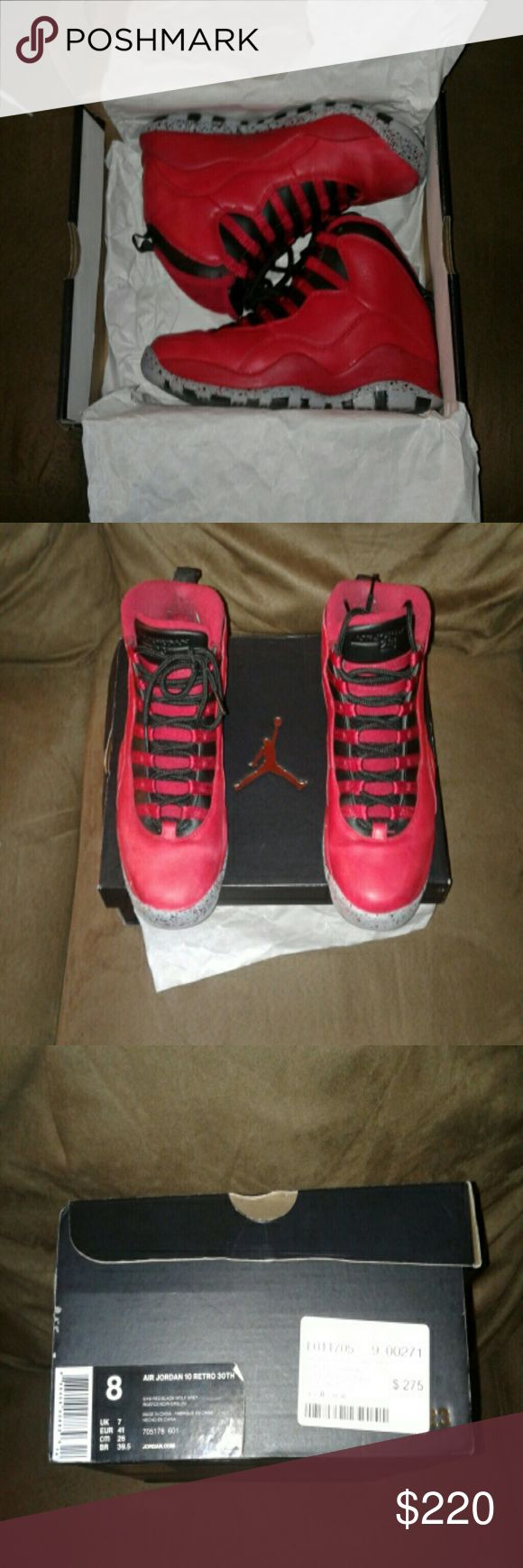 Nike Retro Jordan 10 Bulls Over Broadway purchased at Flight Club, only wore them two times Jordan Shoes Athletic Shoes