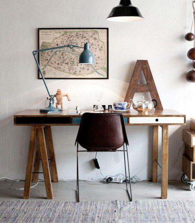 Bureau Bois ideas on Pinterest  Bureau design bois, Modèle petit  ~ Petit Bureau Bois