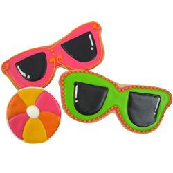 sunglasses shaped cookies | Beach Themed Cookie Cutters - Cookie Cutter Sunglasses Copper