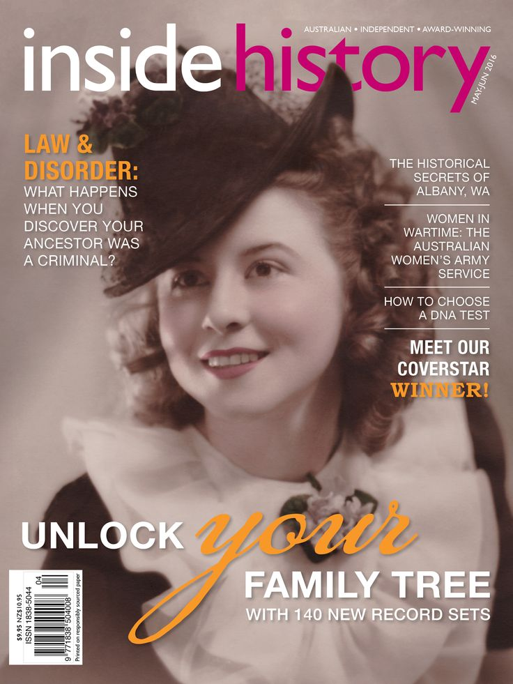 In issue 34, the May-Jun 2016 edition you'll discover:  - 140+ new family history resources online - Our expert's guide to DNA tests - The mysterious bigamist and his historian descendant: uncovering a criminal ancestor - What's new on Trove - The Australian Women's Army Service in World War II - Anne Summers' take on Australian women's history - How the scientific discovery of longitude shaped maritime history - The life and lies of Aussie conwoman Ethel Livesey On sale now!