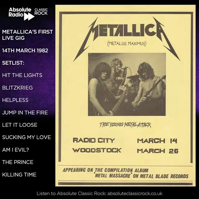 It's 35 years since Metallica's first ever gig! How young do James Hetfield and Dave Mustaine look on the flyer??
