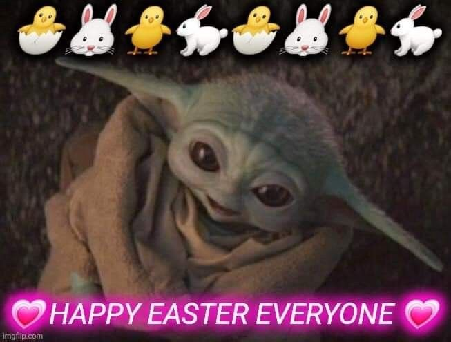 Pin By Beverly Zoldak On Star Wars Easter Yoda Wallpaper Happy Easter Everyone Young Baby