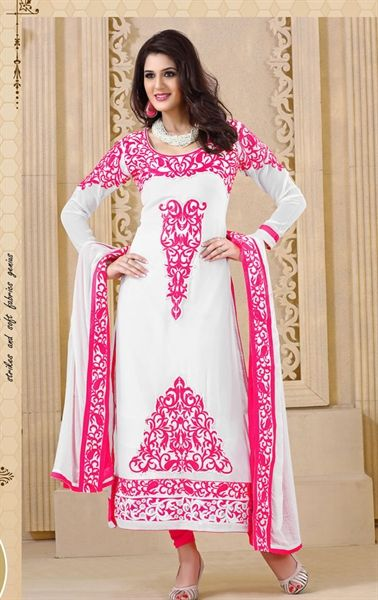 Exclusive White Color Indian Wedding Salwar Kameez VIVRAM1502 - www.indianwardrobe.com