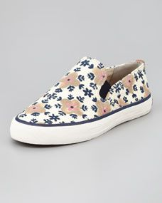 Floral Elephant Head Pattern Women's Casual Shoes Sneakers Canvas Slip News Trainers