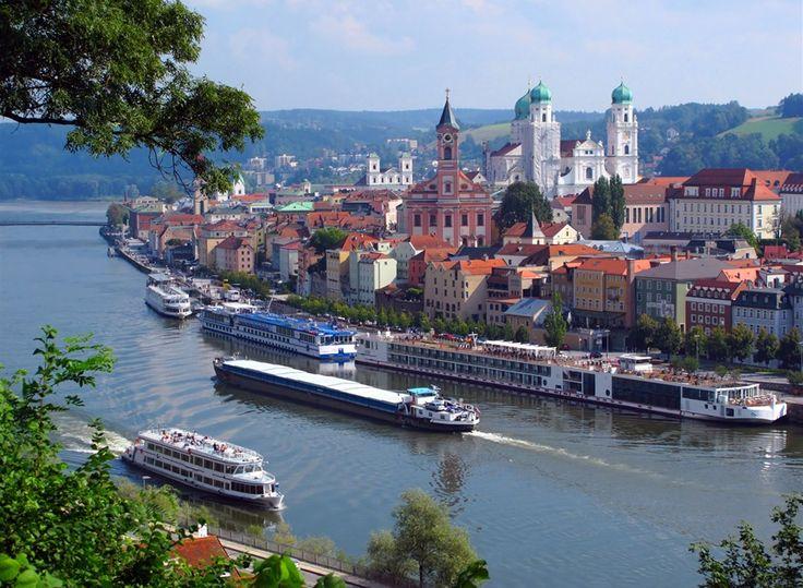 De omgeving van vakantiepark Beierse Woud, Duitsland. // Passau