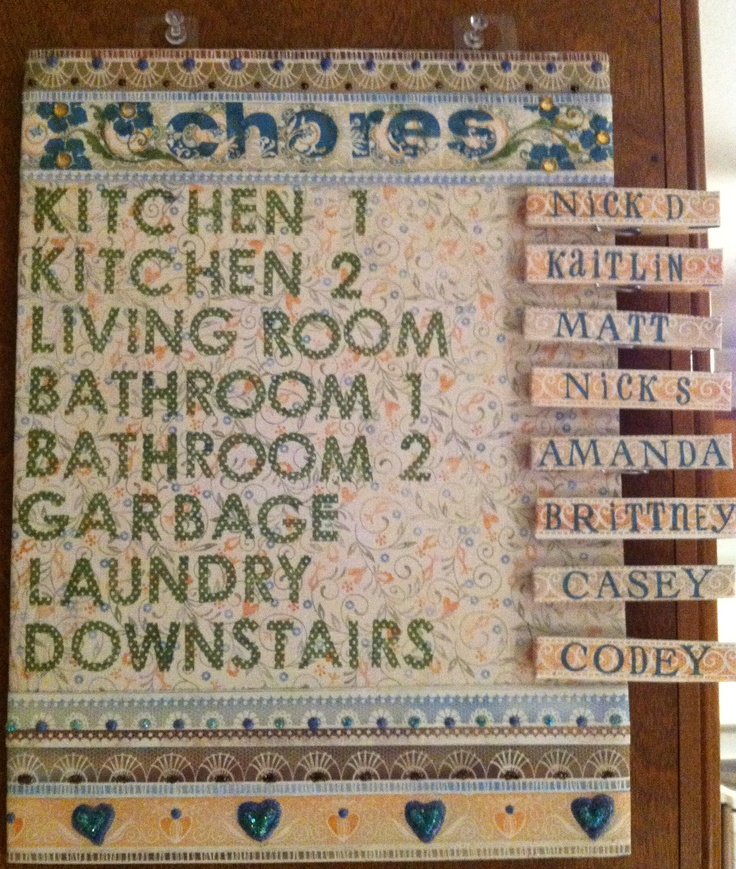 Apartment Chore Chart Roommate Cleaning Schedules