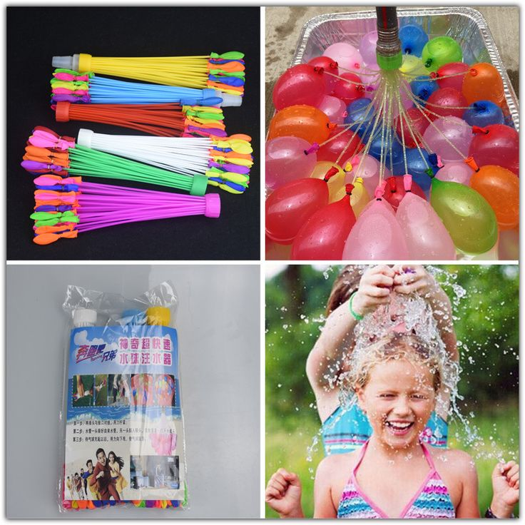 111pcs/bag Novelty Gag Toys Children Funny Toys Balloon Bunch Of Balloons Water Balloons Bombs Filling Water Balloons XQ30