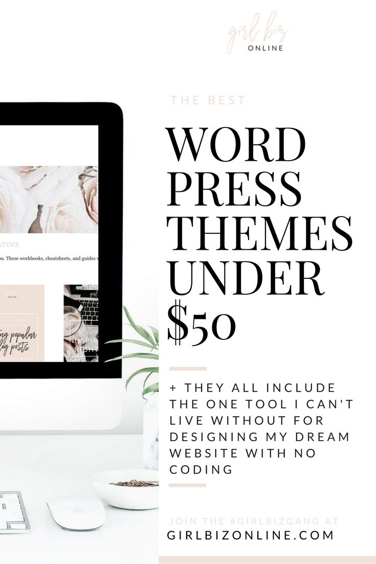 Want a beautiful Wordpress theme BUT don't want to have to struggle with difficult coding? Look no further - here are the BEST Wordpress Themes Under $50 ALL equipped with the ONE tool I use to edit my websites and make them 100% my own without touching any code!