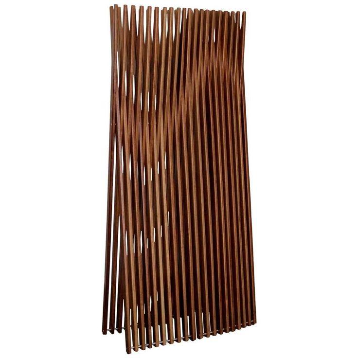 Brazilian Contemporary Design Conogó Sucupira Solid Wood Screen Partition 1