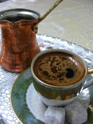 I want a turkish coffee:Very easy to make. Boill water with sugar then turn the stove off,add the coffee, stir well, put a plate over the pot of coffee and let it rest for few minutes. Usually for a small cup I use 1 tbs of sugar and 2 tbs of coffee (finely ground- but the regular ground coffee works too you just have to put a little bit more of it)