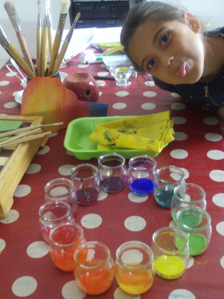 preparando il cerchio dei colori