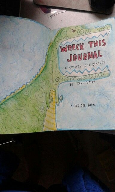 Wreck this journal title page