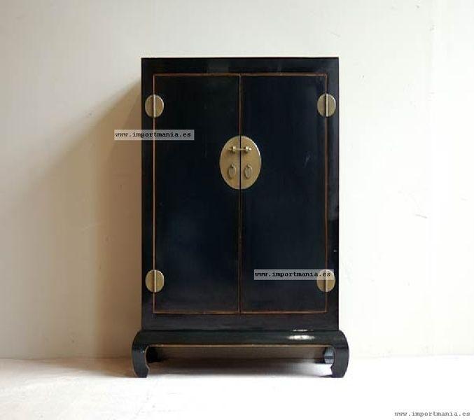 Armario oriental negro lacado - Muebles chinos | muebles orientales | muebles asiaticos | decoración oriental China
