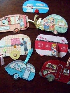 camper cards. I wish our camper was this cute.