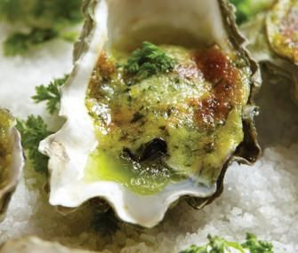 Oysters Rockefeller on Rock Salt! I just made these for the first time ... Oyster Eating Salt