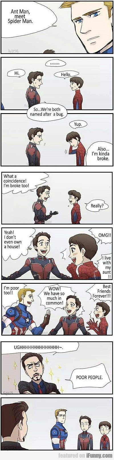 Ant Man, Meet Spider Man! #Funny-Pics http://www.flaproductions.net/funny-pics/ant-man-meet-spider-man/27042/?utm_source=PN&utm_medium=http%3A%2F%2Fwww.pinterest.com%2Falliefernandez3%2Fgreat%2F&utm_campaign=FlaProductions