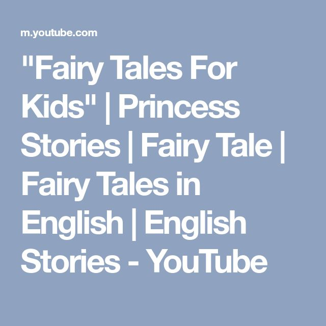 """""""Fairy Tales For Kids"""" 