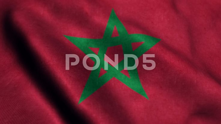 Flag of Morocco Beautiful 3d animation of the Morocco flag in loop mode - Stock Footage | by panuwatsexy