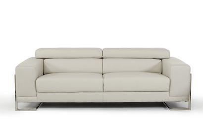 Vig Furniture Divani Casa Hover Modern Light Grey Leather Sofa Set