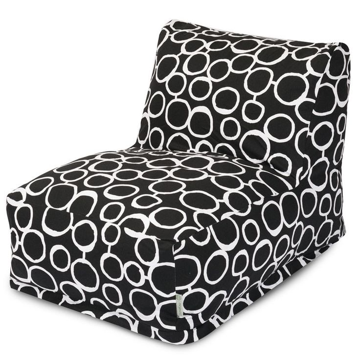 Majestic Home Goods 85907238043 Fusion Black Bean Bag Lounger Chair
