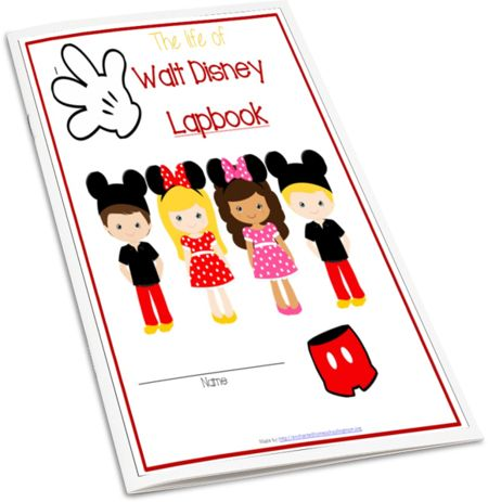 The Life of Walt Disney Lapbook - Enchanted Homeschooling Mom for members only