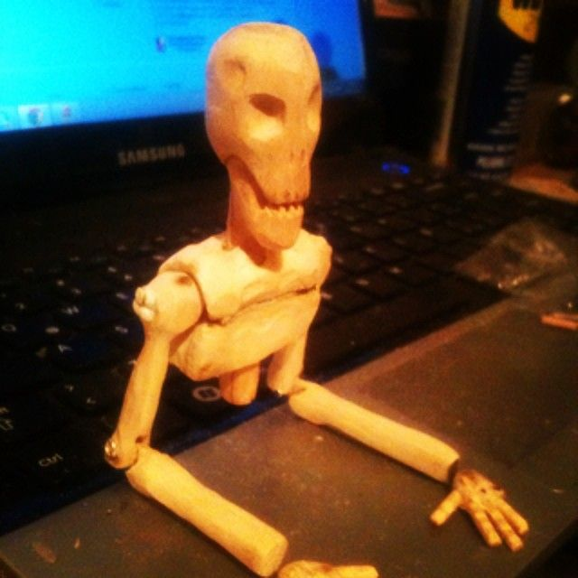 La muerte  madera-