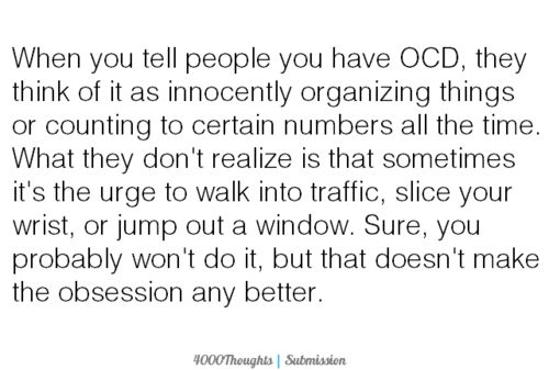 OCD, you have no idea. It kills me to pin this... But more knowledge needs to be shared