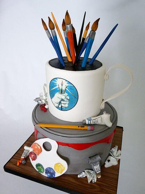 Cake Artis : 105 best images about Cakes: Art, Paint on Pinterest Art ...