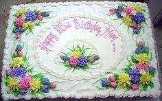 dekorierter ganzer Blechkuchen – dekoriert – Frühlingskuchen – #Kuchen #Frühling #Ecke …   – Torta