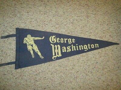 Vintage The George Washington University (DC) Football Runner Pennant LOOK (11/10/2014)