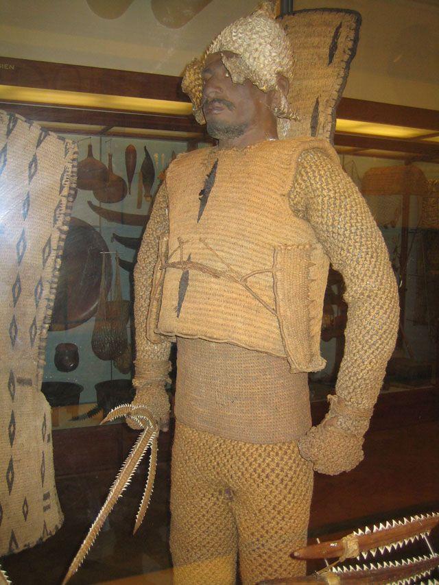 Gilbert islands armor woven out of coconut fiber. | Armor ...