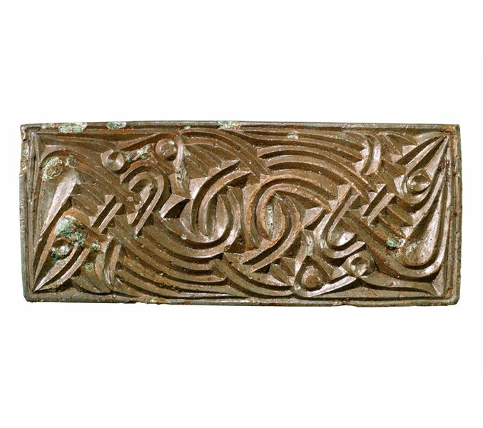 Bronze brooch with animal ornament. Dated to Late Scandinavian Iron Age (AD 400-1050). Width 6 cm. uppåkra, Sweden. (Photography by Bengt Almgren, LUHM)