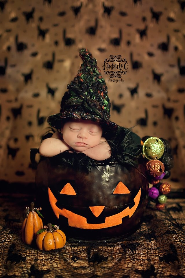 cute newborn photo for october baby - Baby Halloween Pictures