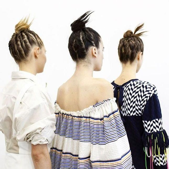 DIY hair tutorial: Twisted Bun at the Tanya Taylor's Spring 2016 show