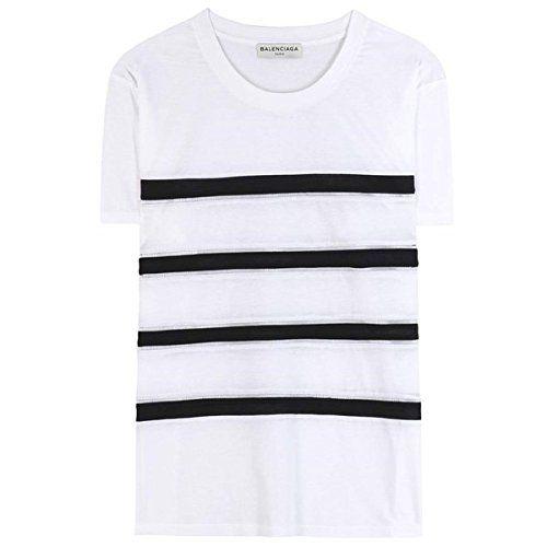 (バレンシアガ) Balenciaga レディース トップス Tシャツ Cotton T-shirt 並行輸入品  新品【取り寄せ商品のため、お届けまでに2週間前後かかります。】 商品番号:hb4-p00123179 詳細は http://brand-tsuhan.com/product/%e3%83%90%e3%83%ac%e3%83%b3%e3%82%b7%e3%82%a2%e3%82%ac-balenciaga-%e3%83%ac%e3%83%87%e3%82%a3%e3%83%bc%e3%82%b9-%e3%83%88%e3%83%83%e3%83%97%e3%82%b9-t%e3%82%b7%e3%83%a3%e3%83%84-cotton-t-shirt/