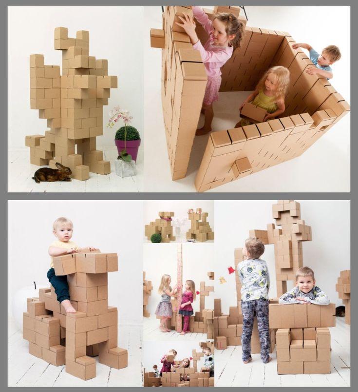 """GIGI blocks"" are building blocks made of cardboard"