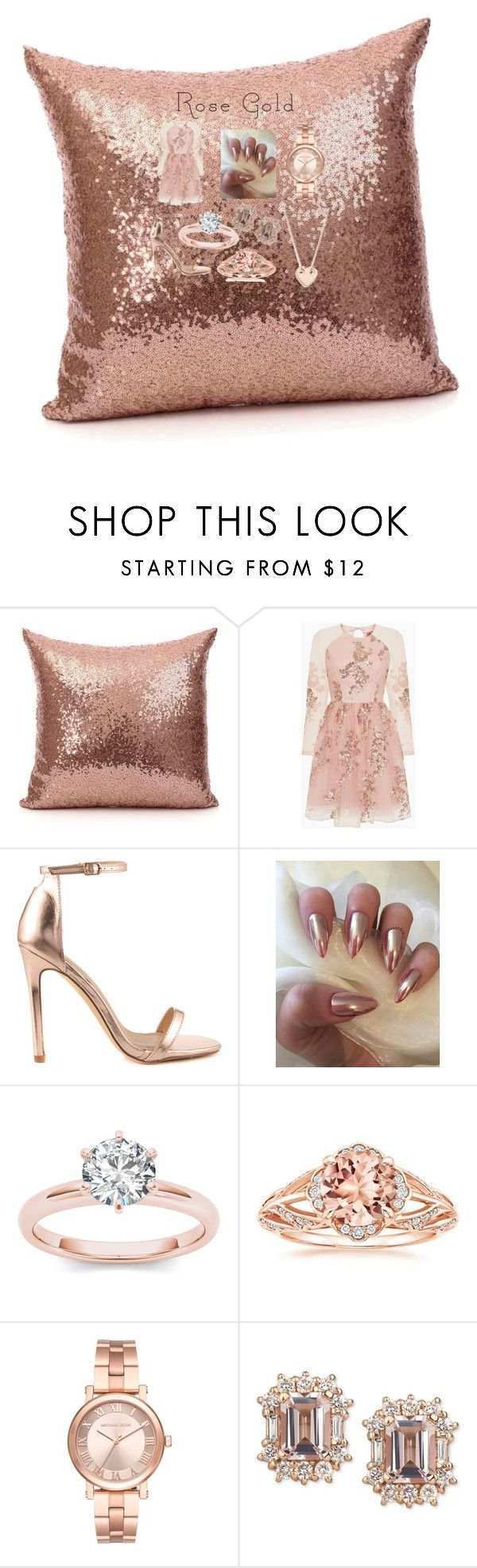 """""""rossy loves rosy gold 💕"""" by katiemercedes ❤ liked on Polyvore featuring Chi Chi, Liliana, Michael Kors, Ginette NY, love, gold, rosy, ross and rosegoldchallenge"""