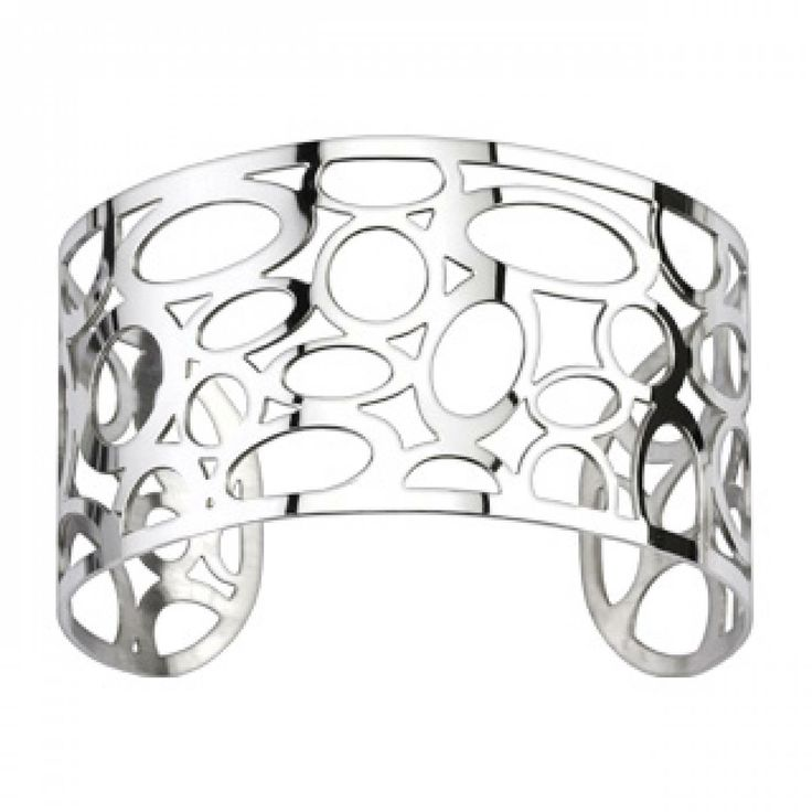 Ladies stainless steel Alvéolés bangles - Spikes