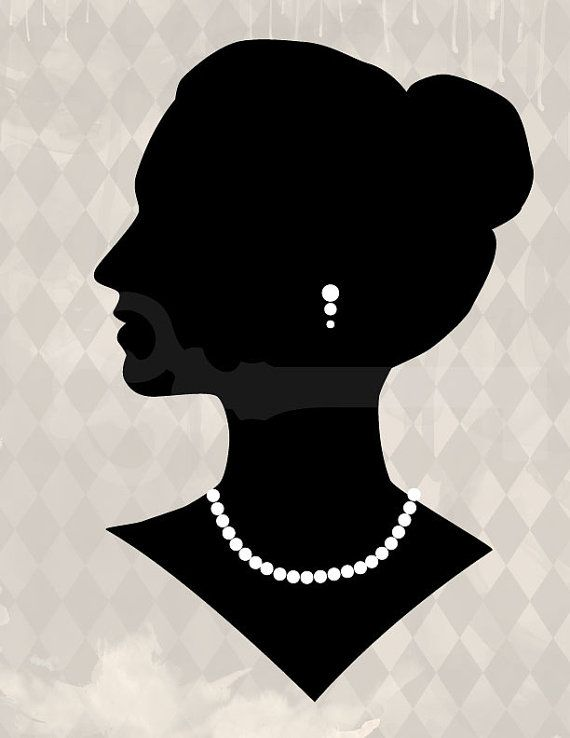 Elegant Woman Silhouette Graphic Image No.219 by TanglesGraphics