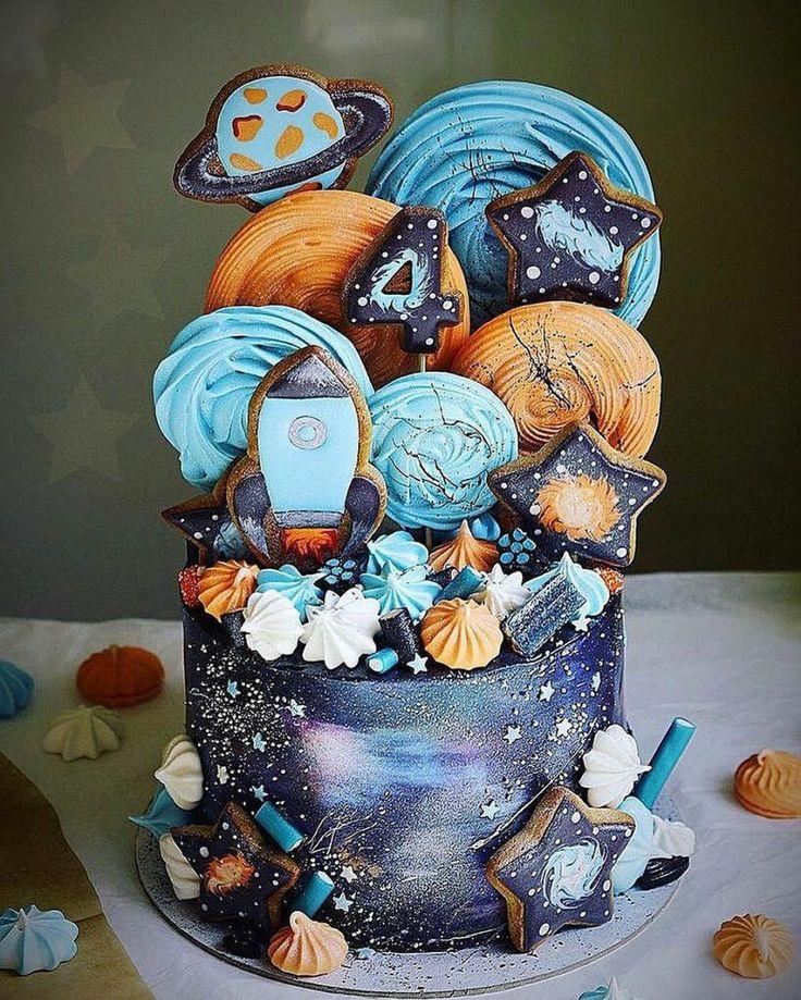 Eine Galaxie voller Spaß !! | 55+ Tolle, coole und wunderschöne Geburtstagstorten | Kunst & Wohnen || …   – Feiern