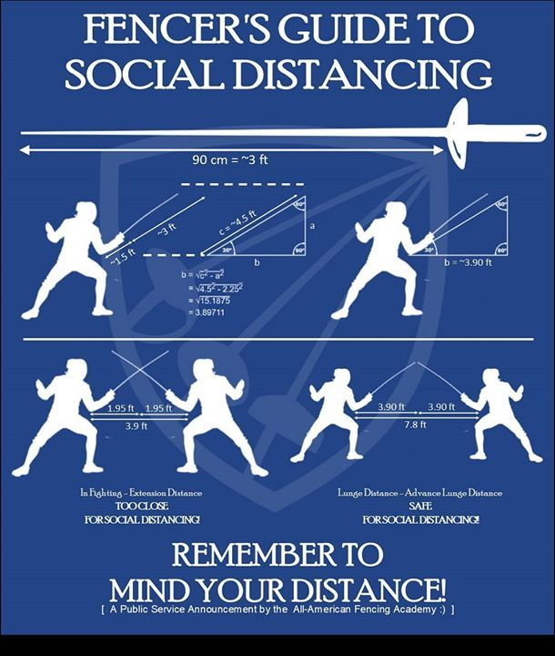 A Fencer's Guide To Social Distancing in 2020 | Fence, Public service  announcement, Public service