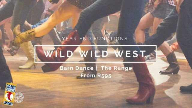 "YEEHAH!  It's Party Time in the Wild Wild West on the ""The Ranch"" in Cape Town.  Here your guests can dress up as cowboys and cowgirls where they may even learn some new skills…line dancing, bucking bulls and saloon shooting! No of persons: Min 60 
