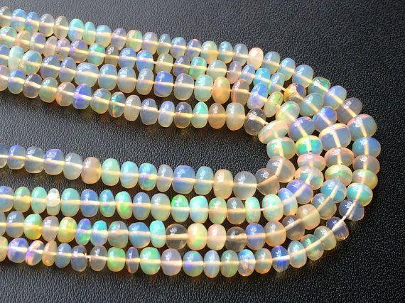 Ethiopian Welo Opa Plain Rondelle Beads AAA by gemsforjewels