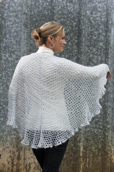 Half Circle Shawl Crochet Pattern images