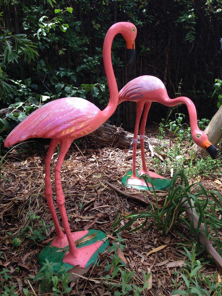 Flamingo restoration job.  In situ.