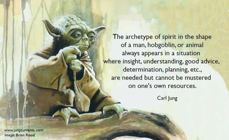 """The archetype of spirit in the shape of a man, hobgoblin, or animal always appears in a situation where insight, understanding, good advice, determination, planning, etc., are needed but cannot be mustered on one's own resources.  The archetype compensates this state of spiritual deficiency by contents designed to fill the gap.  """"The Phenomenology of the Spirit in Fairytales""""  Collected Works 9i; Paragraph 398"""