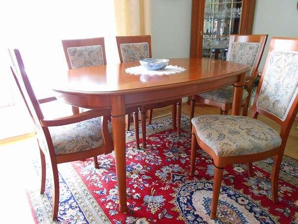 Esstisch Mit 6 Stühlen Aus Kirschholz 4821406 Angebote