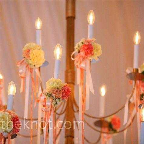 reception ribbon decorations