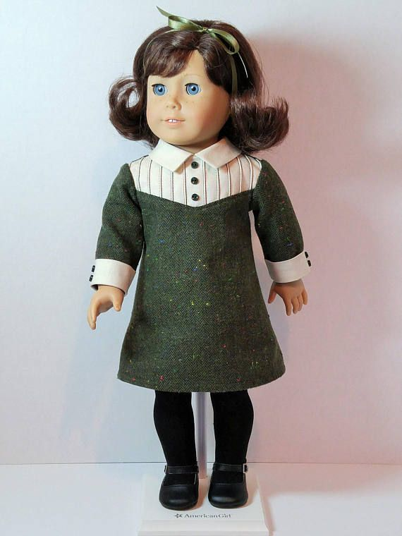 From 2018 - 1960s winter dress with corded pintuck yoke.  Dress made from pattern elements by Kindred Thread and Keeper Dolly Duds.