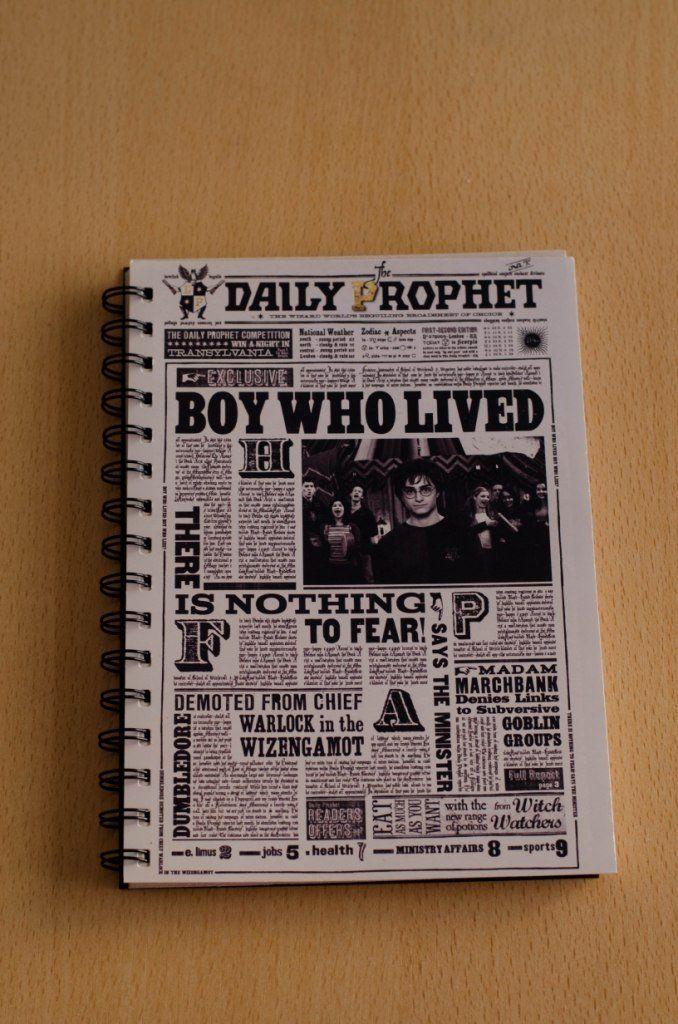 Anillado El chico que vivió Diario El Profeta - Harry Potter
